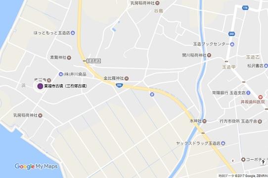 東福寺(三枚塚)古墳地図
