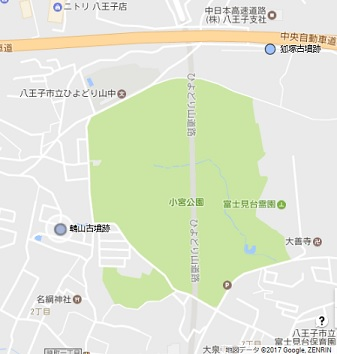 鵯山古墳跡地図