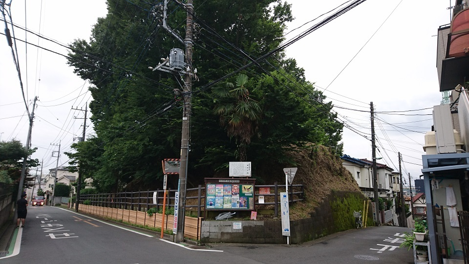 浦和本杢古墳 北東隅から