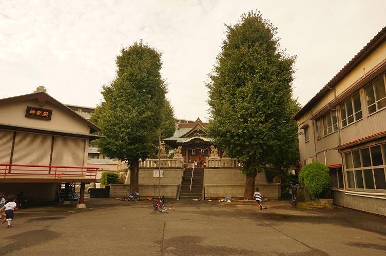 10 塚越御嶽神社(南側遠望)