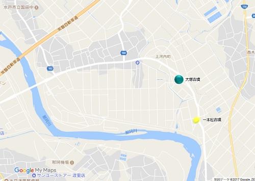 大塚古墳、一本松古墳地図
