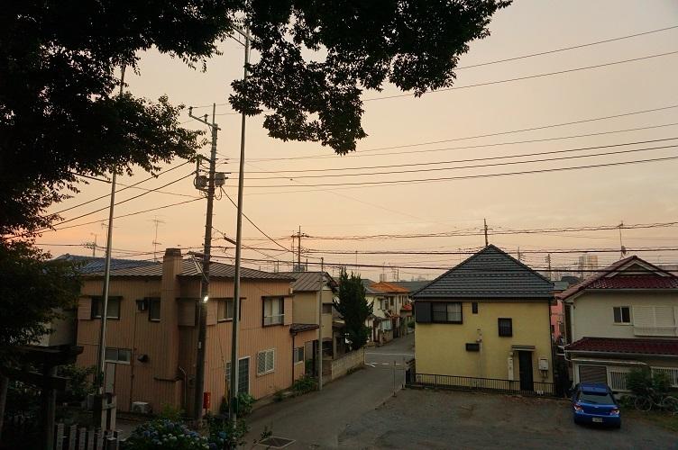 13 川越藤間諏訪神社より崖下を望む
