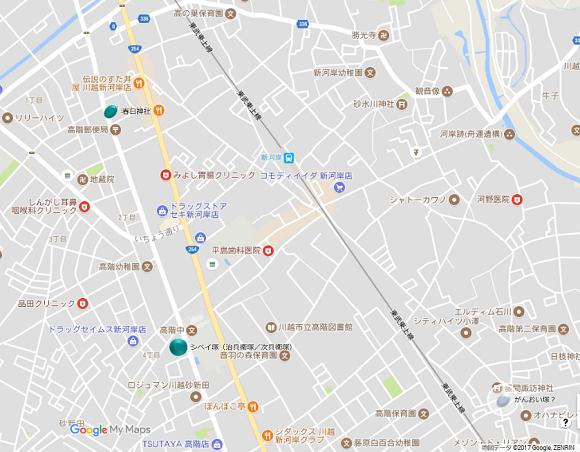 川越藤間がんおい塚?地図
