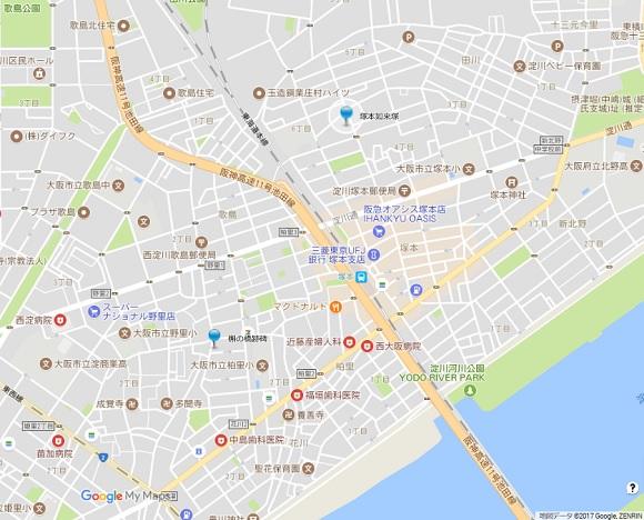 塚本如来塚地図