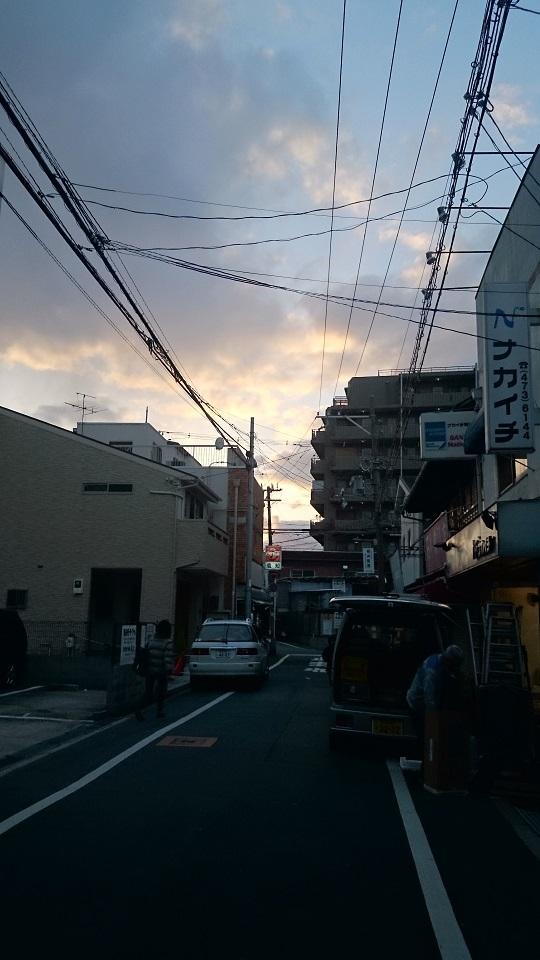 01 大阪歌島夕景