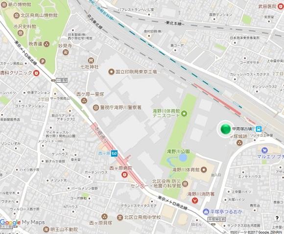 甲冑塚古墳地図