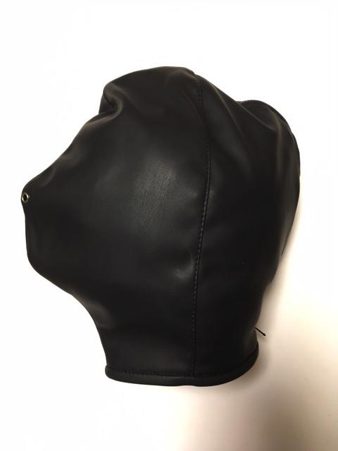 合皮全頭マスク呼吸穴付き