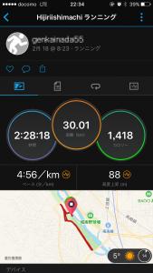 290218の30km走