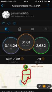 2月19日、LSD走31kmしました!