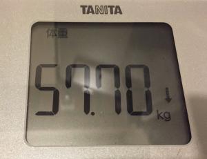 カーボ前体重57kg代後半
