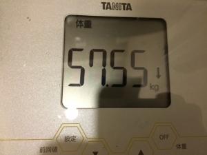 3月11日朝の体重