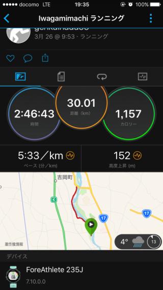 30km走結果