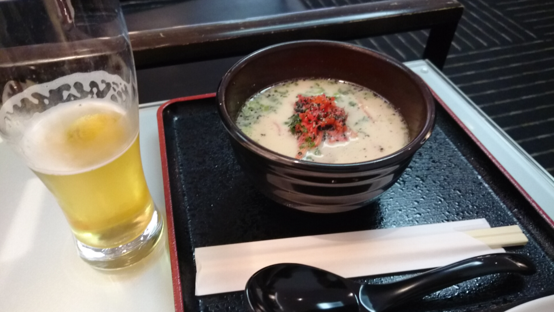 朝ラーメン&朝ビール