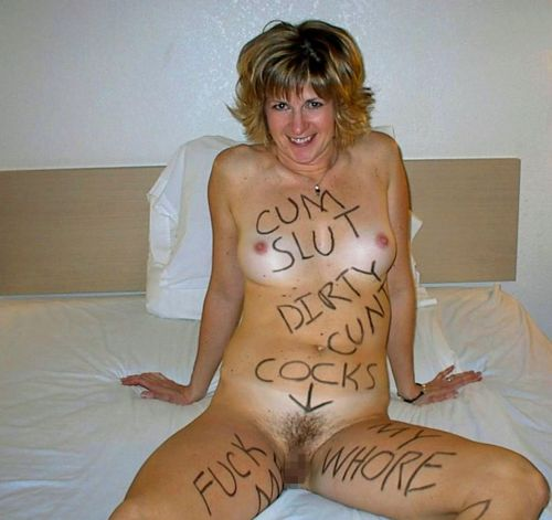 体中に落書きされた海外版肉便器M女性が開脚マンコおっぴろげwww 31枚 No.24