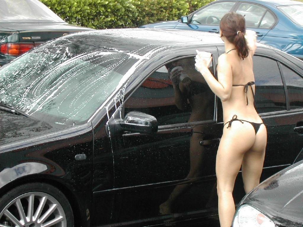 (写真)TBACKや裸で洗車する外国人の規格外なお尻がえろ過ぎwww 39枚