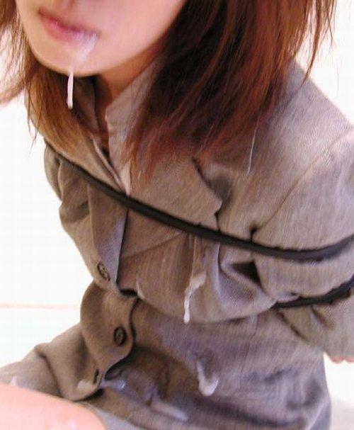 服を着たままの女の子の顔に顔射しちゃうエロ画像まとめ 39枚 No.13
