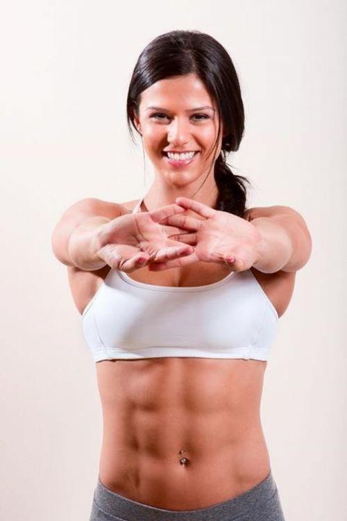 【画像】筋肉モリモリのガチマッチョ外国人女性の腹筋エロ過ぎ 33枚 No.21