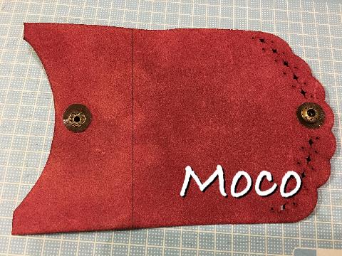 革小物 カードケース ウラ ボタン