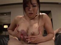 KAORI パイズリとおっぱいで顔面圧迫する授乳手コキで巨乳痴女が大量射精させる!