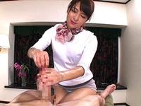 最高級の手コキテクニックで尿道擦り切れるまで射精させた痴女セラピスト 二宮ナナ