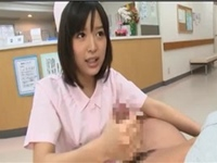 アダルト看護師がフェラ手コキで検温する無料エロ動画