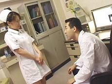 【無修正】四十路淫乱ナース、患者も医者も味見