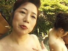 【無修正】波純子  露天付き旅館で熟女と3P