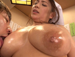 B専タケダ  : 爆乳女将の豊満女体をたらふく堪能できる全裸食堂 織田真子