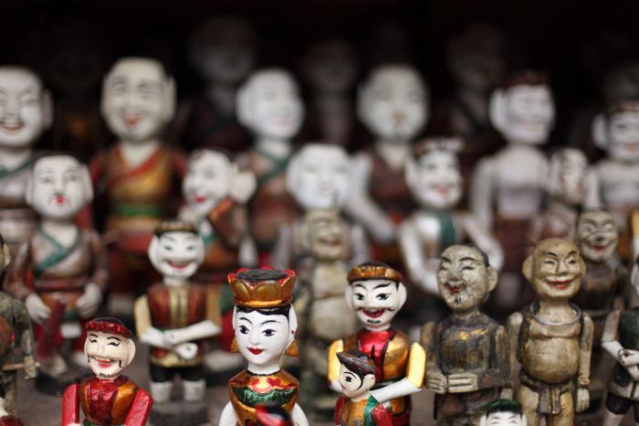 笑顔の人形たち