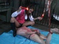 【M男】美人長身拷問官 元部下OLに拷問調教される男達…