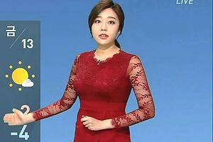 【爆乳キャスター】韓国でエロすぎて高視聴率マークの天気予報がこれwwwww「キャスターが巨乳ミニスカでガチ抜ける」
