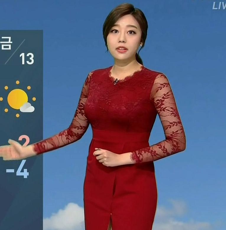 韓国でエロすぎて高視聴率マークの天気予報がこれw