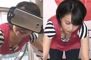 【胸チラ】相内優香アナがVR体験で胸元ノーガード状態にwww【エロ画像15枚】
