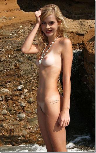 【世界の快道でイク!西欧特別編】無毛の美少女ボディがよく似合うエマ・ワトソンのアイコラエロ動画像27