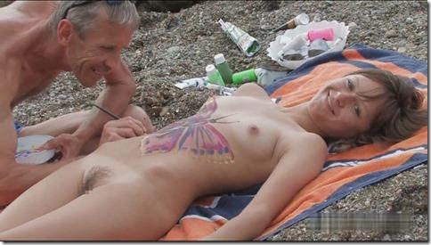 じっくり舐めるように見たいオマンコボディペイントのエロ動画像:その221