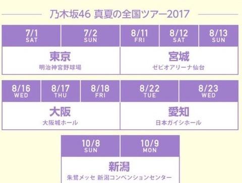 乃木坂46,新潟,全ツ,2017,20170503,宮城,東京,神宮