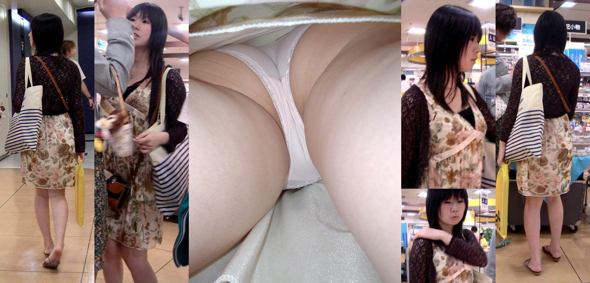 【逆さ撮り】素人さん達の鮮明なパンツを撮影したエロ画像