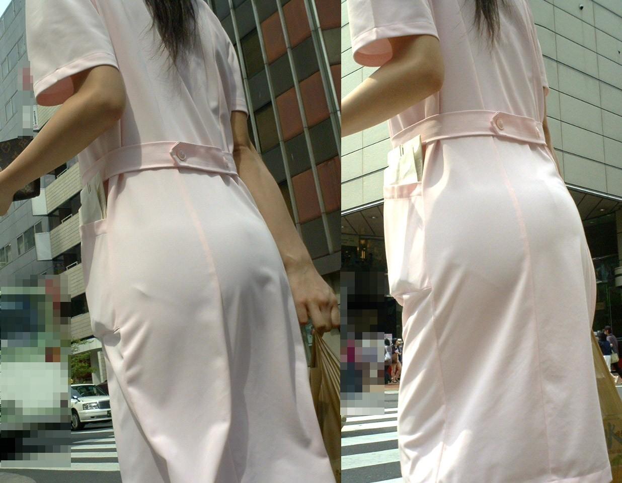 この衣装考えた奴わざとだろって感じの看護師さん達の透け透けパンツ丸見え写真