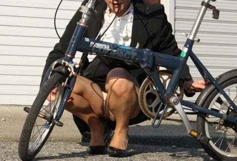 自転車とパ○チラが合わさるとエッロい機械