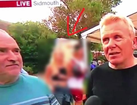 TV中継でガチで素人女のお○ぱい+乳首が映る放送事故…これはアウト(動画)