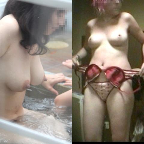 (アダルト写真) (覗き見 女浴室 脱衣所)犯人は絶対にオンナだなぁーwMENS禁制の所にカメラを仕掛けた結果ww無防備年増裸見放題だぁー