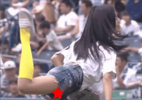 小島瑠璃子、始球式でガチパンモロ放送事故wwwwwwwwwwww
