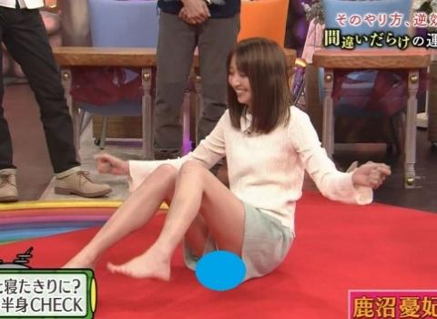 鹿沼憂妃とかいうモデルさん、関西ローカル番組でマンビラwwwwwwwwwwwwwwww