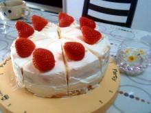 大阪市の鍼灸・ヒーリング整体院 『たなごころ』代表 池田賢治のブログ-いけぽん32歳お祝い奥様手作りケーキ