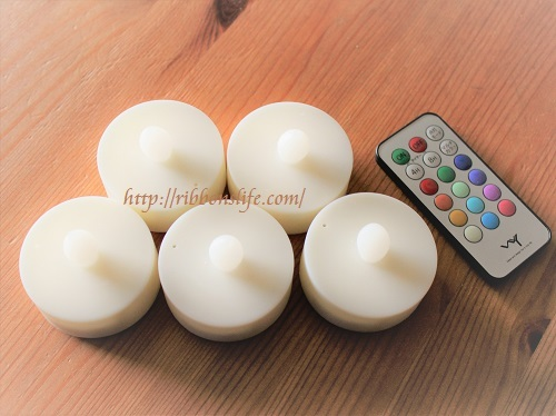 12色LEDティーライトキャンドル[5個セット]リモコン付