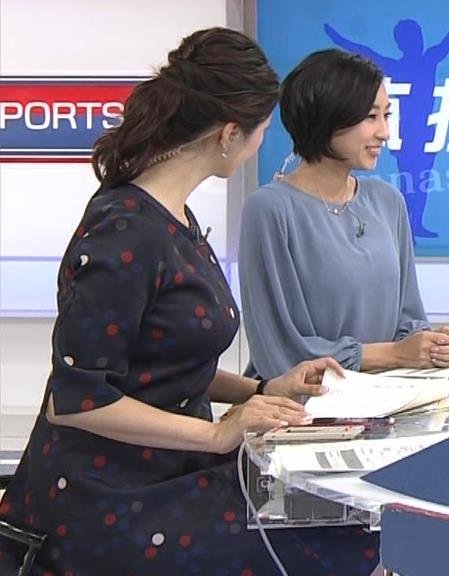 杉浦友紀アナ でっかい横乳