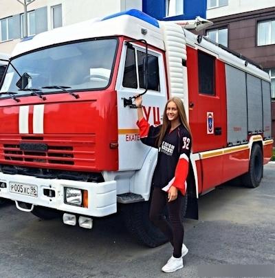 ロシアの美人消防士 7