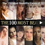 「The 100 Most Beautiful Faces of 2016」 2016年の世界で最も美しい顔 TOP100発表