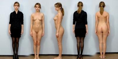 服を着てる時とヌードを並べた素人女性の比較画像特集 27