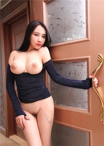 中国巨乳美女モデル 松果儿(Song GuoEr) セクシーヌード画像 13